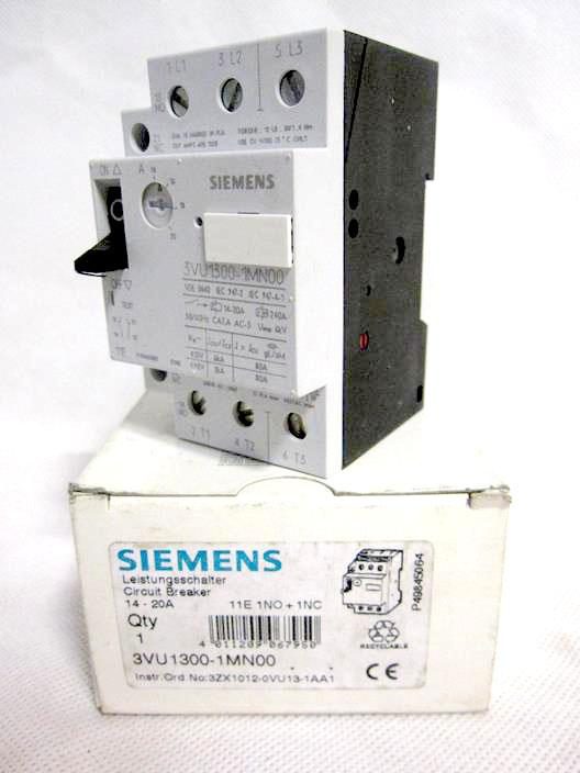 Siemens 3vu1300 1mn00 Starter Motor Protector Pro Servo